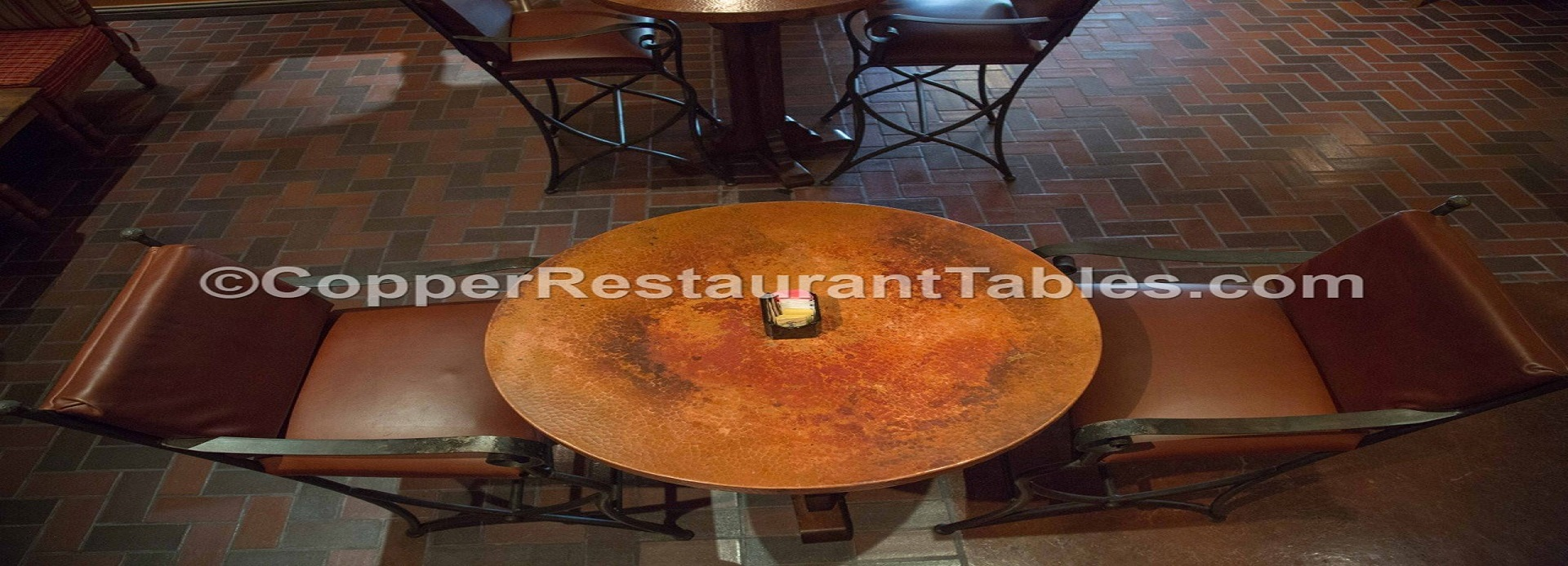 Round Copper Restaurant Table Top