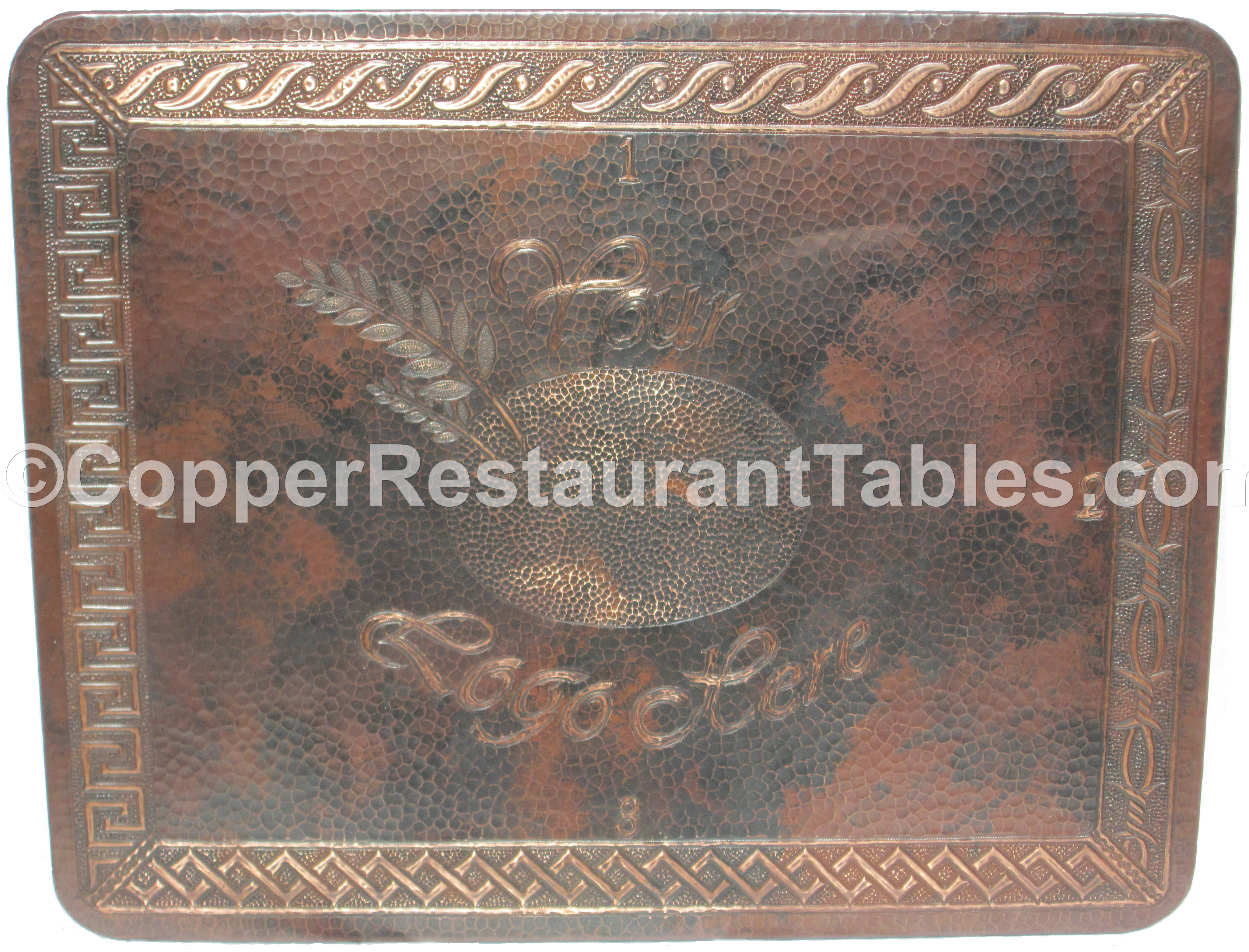 Motif on Copper Table Top
